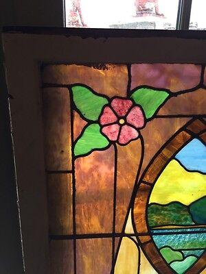 Sg 441 Antique Stainglass Landing Window Keyhole Design 2