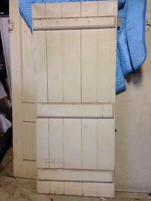 "Architechtural Salvage 19th century 5 PINE interior door 77 3/4"" X 32 3/8"" X 1"" 4"