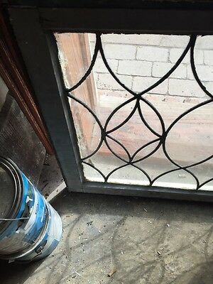 Sg 657 Antique Leaded Glass Window Two Available Priced Each 5