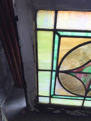 "Sg 593 Antique 20"" X 20"" Pastel Stainglass Window 2"