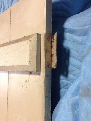 "Architechtural Salvage 19th century 5 PINE interior door 77 3/4"" X 32 3/8"" X 1"" 5"