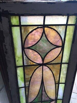 Sg 399 Pretty Pastel Colors Antique Transom Window 2