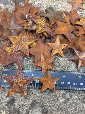 "Set 20  Rusty Stars 10- 2.25"" & 10- 1.5"" Country Metal Barn Star Craft Supplies 2"