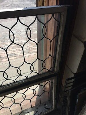 Sg 653 Two Available Price To Each Antique Leaded Glass Curly Cue Design Windows 4