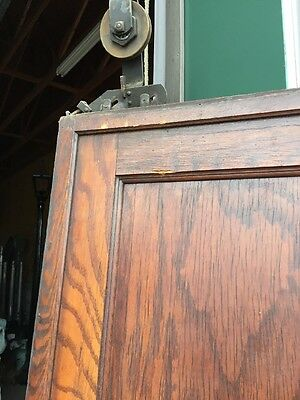R D 13 Antique Oak Single 2 Panel Pocket Door 4