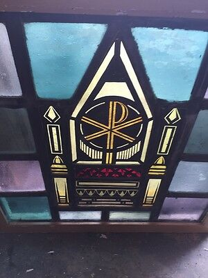 Sg 712 Antique Religious Symbol Window