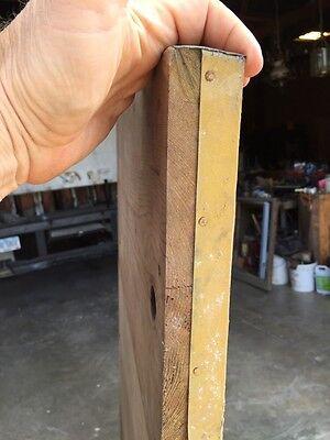 Antique Building Plaque 1872 Metal Overwood