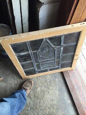 Sg 712 Antique Religious Symbol Window 3