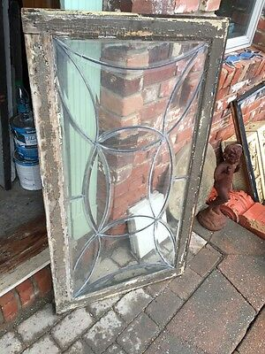 Sg 538 All Beveled Glass Transom Window Antique 9