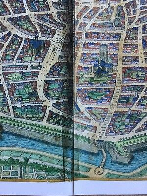 Old Antique Historic Map Antwerp, Belgium 1598 Braun & Hogenberg REPRINT 1500's 6