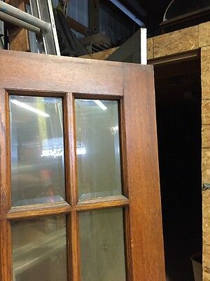 "H12 Antique Beveled Glass French Style Oak Door 29 3/4"" By 78"" 3"