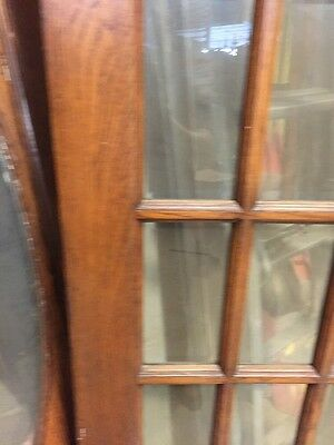 "H12 Antique Beveled Glass French Style Oak Door 29 3/4"" By 78"" 4"