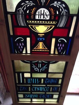 Sg 209 Antique Painted In Fired Religious Chalice Window 3