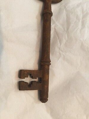 Old Vintage Antique Door Key Small Thin Unusual Georgian 11.7Cm 7
