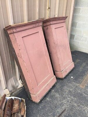 6 Antique Square Column Egg And Dart Carved Top 5