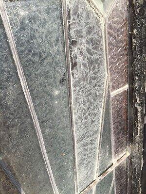 Sg 814 Antique Sunburst Pattern Transom Window Beveled Glass Center