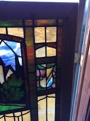 Sg 509 Antique Rudy Brothers Stainglass Birkholz Castle Window 4