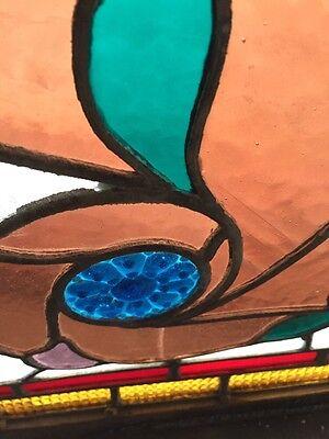 Sg 365 Amazing Pressed Jewel Turn-Of-The-Century Antique Stainglass Window 7