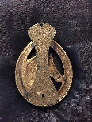 Great Vintage Brass Horses Head Door Knocker 5