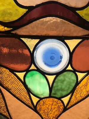 Co 14 Antique Stained Glass Landing Window Many Jewels Victorian Antique 11