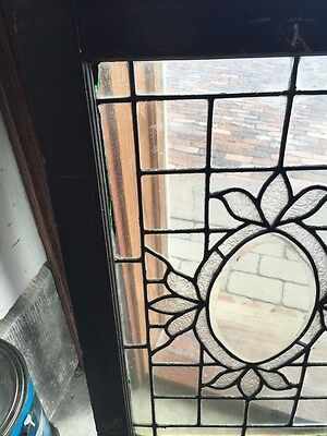 Sg 564 Antique Textured Glass Oval Beveled Glass Window 2