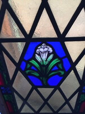 Sg 521 Antique Painted In Fired Calla Lily Floral Window 4