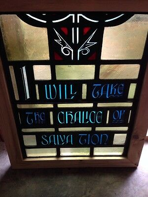 Sg 209 Antique Painted In Fired Religious Chalice Window 4