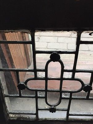 Sg 887 Matched Pair Antique Leaded Glass Windows 2