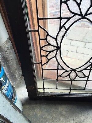 Sg 564 Antique Textured Glass Oval Beveled Glass Window 4