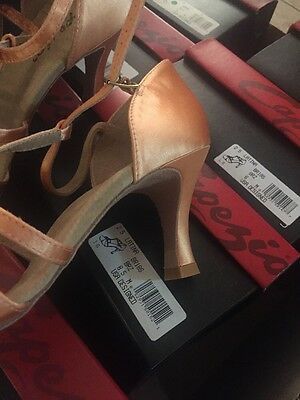 "Capezio BR18S BR18 Latina Satin ballroom dance shoes 2.5/"" BRZ"