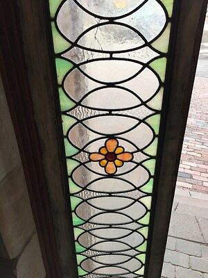 Sg 673 Antique 84 Inch Floral Transom Stainglass 4