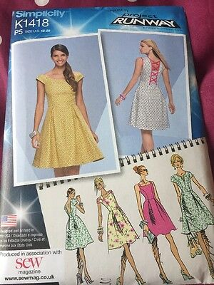 Simplicity K1418 Project Runway Dress Sewing Pattern 12 20 Uncut