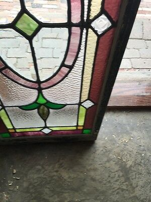 Sg 874 Antique Transom Window With Neat Pressed Jewels Colorful 7