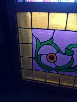 Sg 126 Antique Victorian Stained Glass Window With Rhondell 4