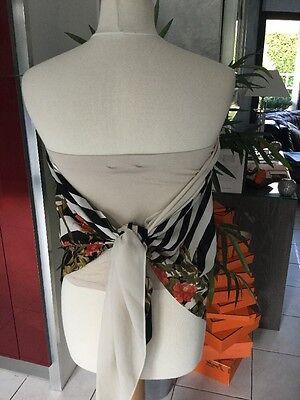 Haut foulard KOOKAI  taille 2 noir /blanc soit 38/40 neuf 2