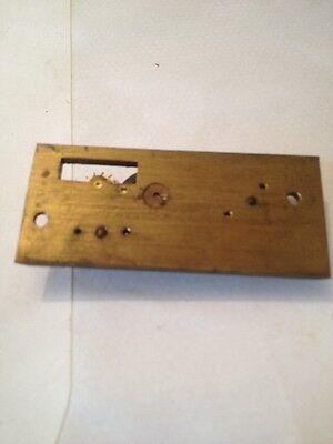 CLOCK PLATFORM  NEW  OLD STOCK (8 LEAF) 23.5 x 54 mm no  drop 4