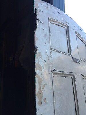 D206 Metal Galvanized Arch Top Door Antique 10