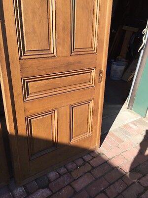 "Ar 139 1 Set Antique Raised Panel Pine Pocket Doors 70"" X 106"" 10"