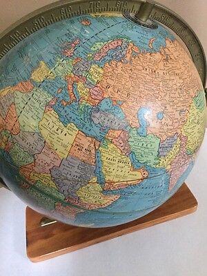 Round Globe Map.Vintage Cram S Imperial World Map Globe 12 Round On Wood Base