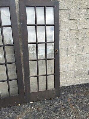 "Cm 18 One Pair Antique French Doors Pine 60"" X 79.5"" 8"