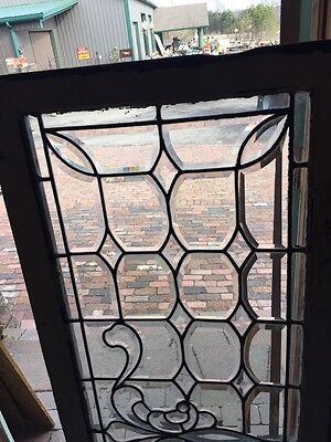 Sg 596 All Beveled Glass Transom Window 22 Inches High By 56 1/4 Long 2