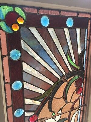 An #2 Amazing Antique Combo Window Victorian Stain Jeweled Beveled Keeper 2