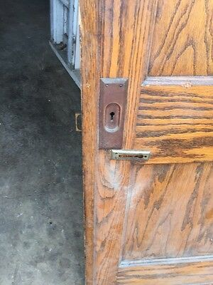 Cm 49 Antique Oak Two Panel Pocket Door 4