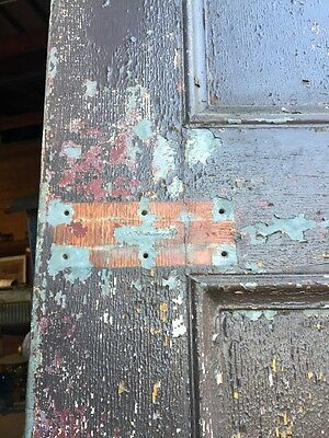 D206 Metal Galvanized Arch Top Door Antique 5