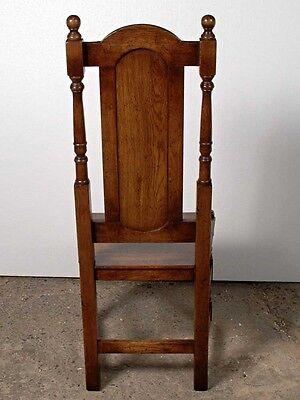 Set 8 English Elizabethan Tudor Oak Dining Chairs Chair 12