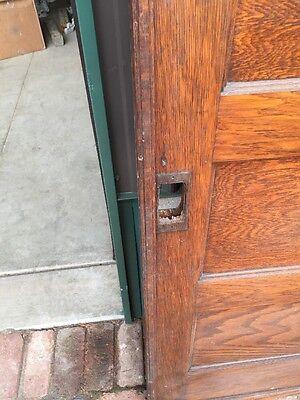 Rd 22 One Single Oak Flat Panel Pocket Door 2