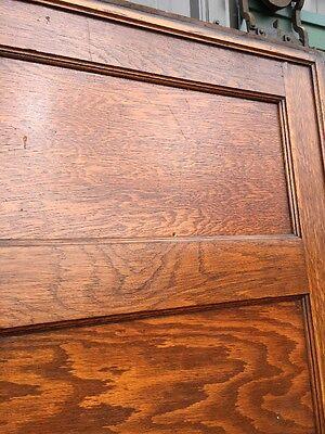 Rd 22 One Single Oak Flat Panel Pocket Door 3