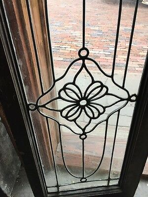 Sg 888 Antique Leaded Glass Floral Design Transom Window 3