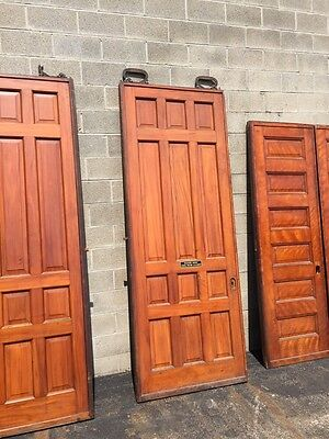 D2 26 One Pair Antique Cherry Pocket Doors 80 Inch Wide By 105 Hi 9