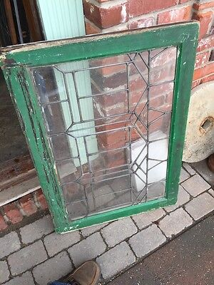 Sg 628 Antique Leaded Glass Transom Window 6